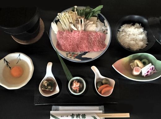 前沢牛 すき焼き鍋セット(A-5 80g)